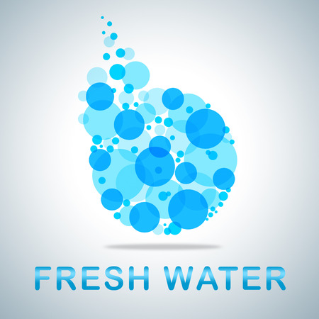 freshest: Fresh Water Showing Natural Pure Refreshing H2o
