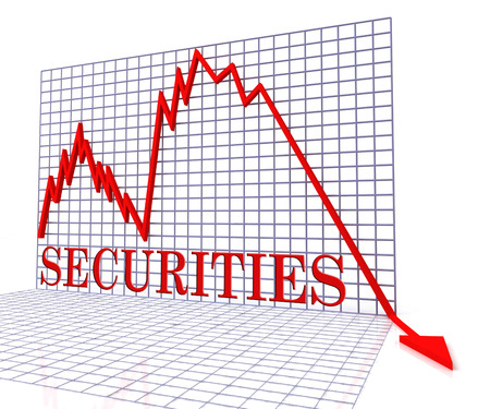 Securities Graph Negative Meaning Trend Downturn And Down 3d Rendering