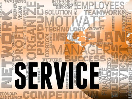 maintain: Server Words Representing Business Maintain And Service Stock Photo