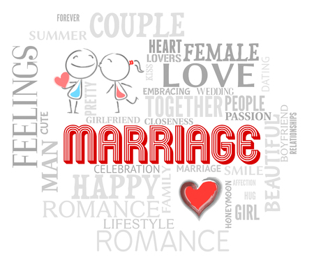 loved: Marriage Words Representing Lovers Fondness And Loved