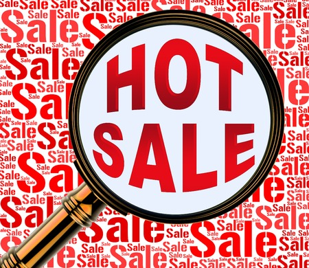 hot sale: Hot Sale Showing Best Deals And Special Stock Photo