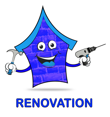 reconstruct: House Renovation Meaning Make Over And Revamping