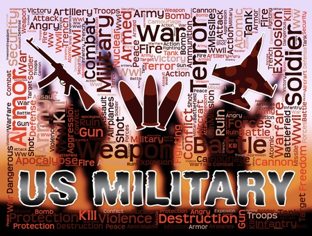 us military: Us Military Indicating The United States And Armed Forces