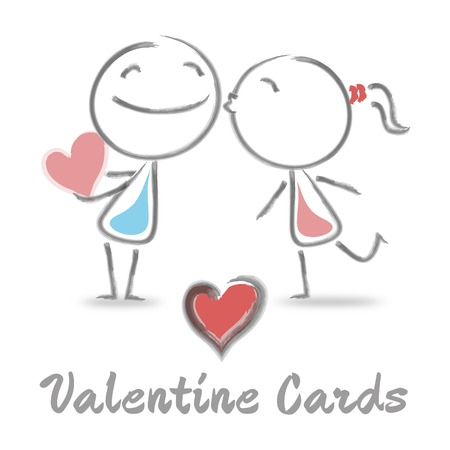 Valentine Cards Representing Find Love And Affection