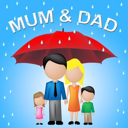Mammapapa Betekenis Father's Day en parasols