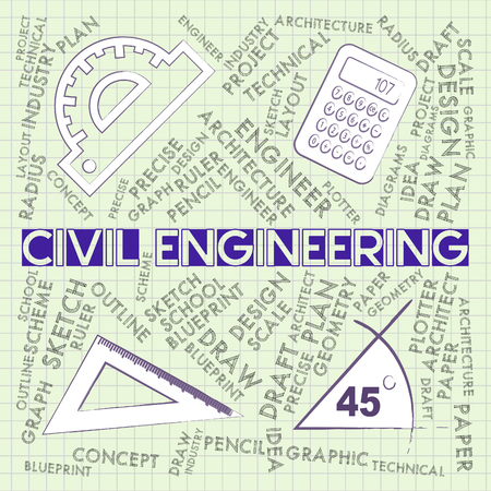 employ: Civil Engineering Indicating Employ Occupations And Builder