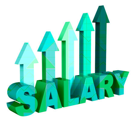 remuneraciones: Salary Arrows Representing Income Employees And Stipend 3d Rendering Foto de archivo