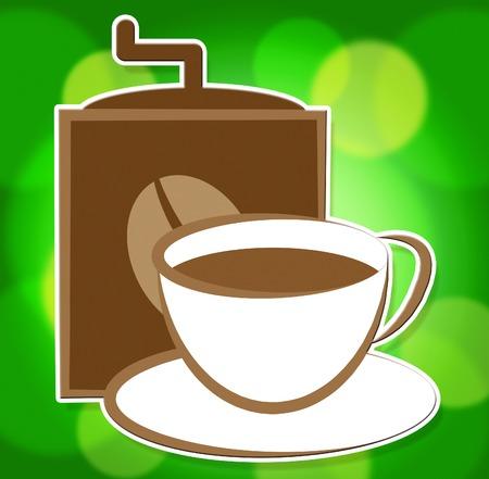 freshest: Fresh Coffee Indicating Caffeine Fresher And Unprocessed Stock Photo