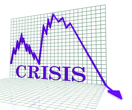 dire: Crisis Graph Showing Adversity Setback And Failure 3d Rendering