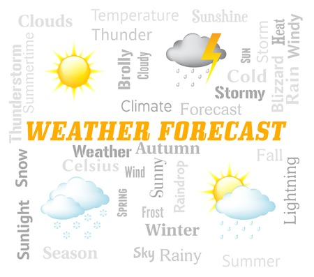forecasts: Weather Forecast Meaning Meteorological Conditions And Climate