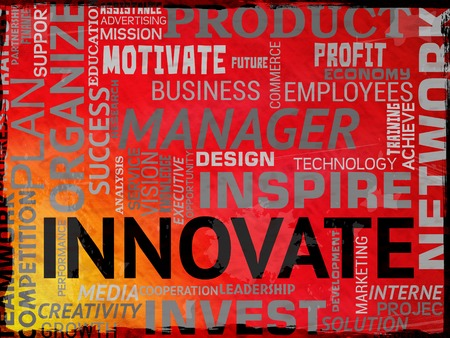 Innovate Words Representing Innovation Idea And Transformation Stock Photo