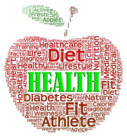 preventive medicine: Health Apple Representing Preventive Medicine And Healthy