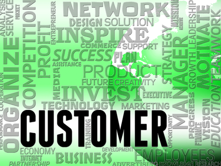patronage: Customer Words Meaning Buyers Customers And Patronage Stock Photo