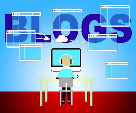 bloggers: Computer Blogs Meaning Web Site And Blogging