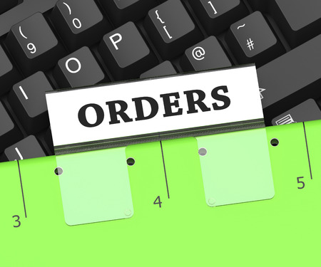mandate: Orders File Meaning Instruction Paperwork And Directions 3d Rendering