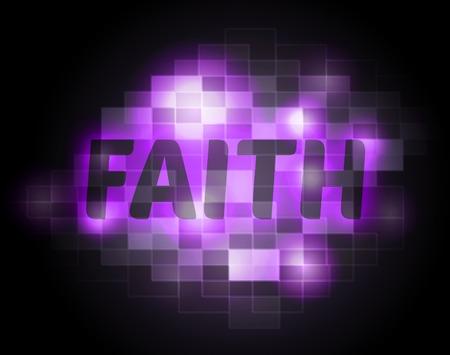 fidelidad: La fe significado de la palabra santa religión y Cristiano Foto de archivo
