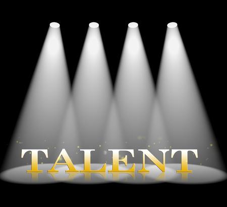 knack: Talent Spotlight Meaning Illuminated Entertainment And Beam Stock Photo