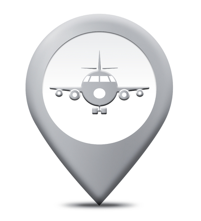 locality: Airport Location Representing Place Locality And Flight