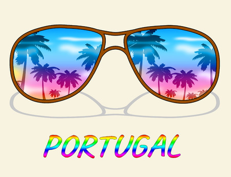 time off: Portugal Holiday Representing Go On Leave And Time Off Stock Photo