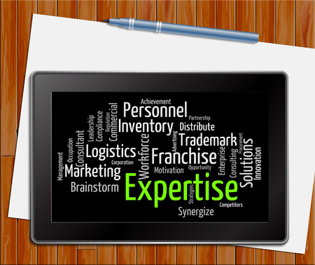 capabilities: Expertise Word Representing Excellence Capabilities And Experts Tablet