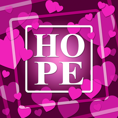 wishful: Hope Hearts Representing In Love And Valentine Stock Photo