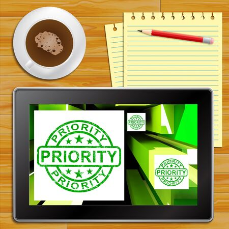 dispatch: Priority On Cubes Shows Urgent Dispatch Or Deadline Tablet