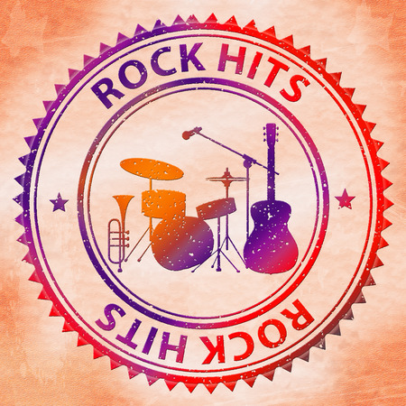 rated: Rock Hits Representing Popular Rated And Sound
