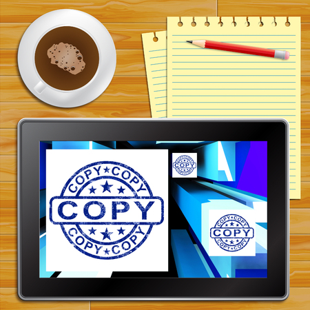 Copy On Cubes Shows Duplicates Or Photocopies Tablet