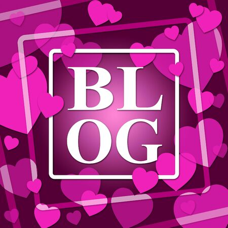 Blog Hearts Showing World Wide Web And Valentines Day Stock Photo