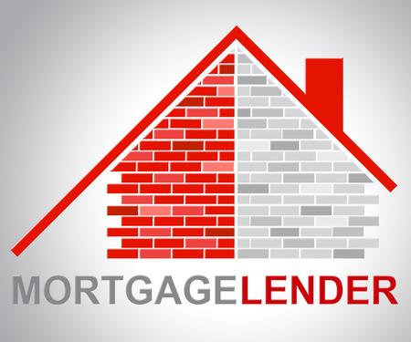 lender: Mortgage Lender Indicating Real Estate And Loan