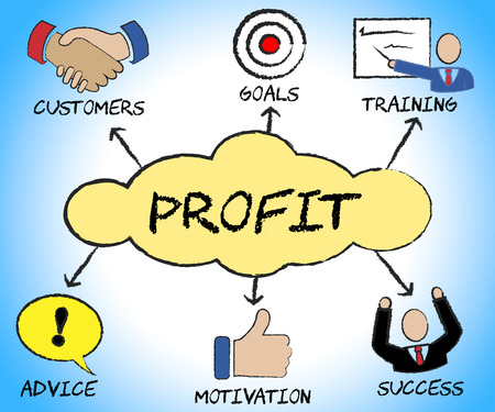 profitable: Profit Symbols Meaning Profitable Success And Icons