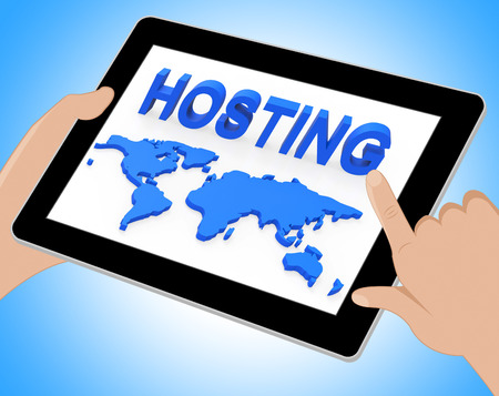 webhost: World Hosting Meaning Earth Webhosting And Planet Tablet