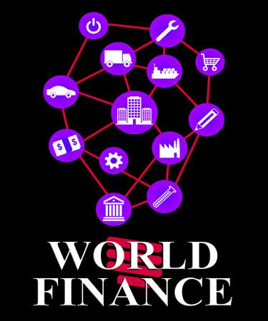 ganancias: World Finance Showing Planet Financial And Earnings Foto de archivo