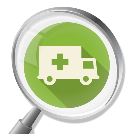 medic: Ambulance Magnifier Meaning First Aid And Medic