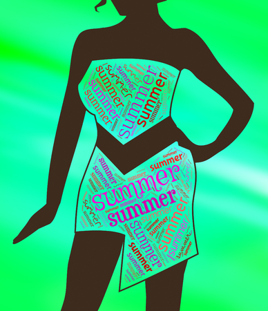 summer dress: Summer Dress Indicating Woman Season And Warmth