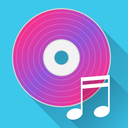soundtrack: Music Disc Meaning Cd Player And Melody Stock Photo