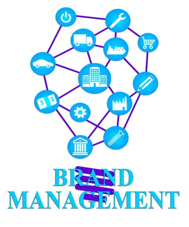 brand identity: Brand Management Meaning Company Identity And Brands Stock Photo
