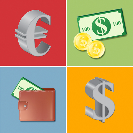 foreign exchange: Currency Icons Indicating Foreign Exchange And Money