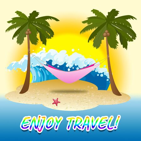 travelled: Enjoy Travel Showing Summer Time And Jubilant Stock Photo