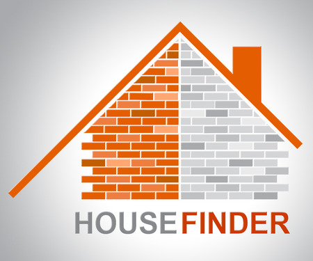 finders: House Finder Indicating Search For And Household