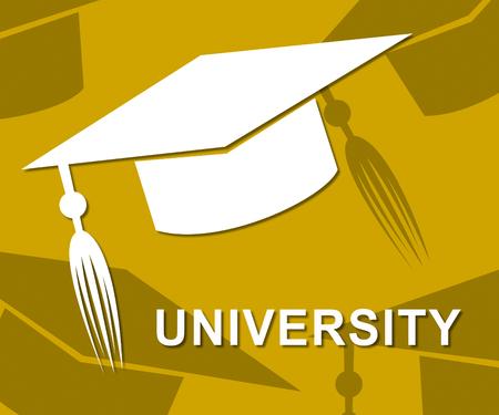 varsity: University Mortarboard Representing Varsity Graduation And College Stock Photo
