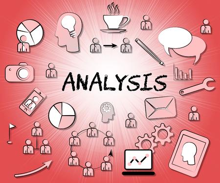 Analysis Icons Representing Data Analytics And Analyse