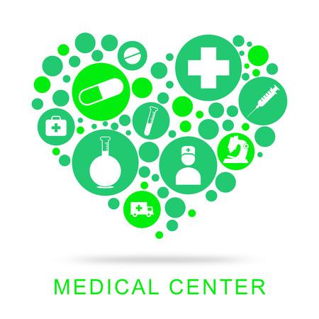 medical center: Medical Center Indicating Hospital Shop And Centers