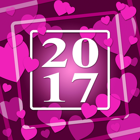newyear: Two Thousand Seventeen Meaning New Year And 2017
