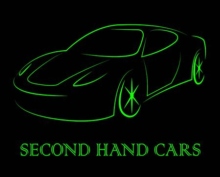 secondhand: Second Hand Cars Indicating Vehicles Drive And Second-Hand