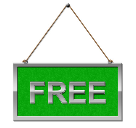 freebie: Free Sign Meaning No Charge And Advertisement