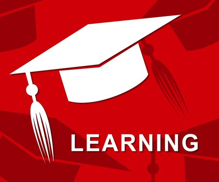 learned: Learning Mortarboard Indicating Learned Training And College