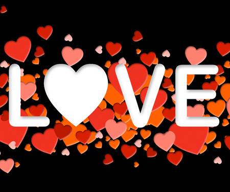 Love Word Representing Lovers Tenderness And Loving Stock Photo