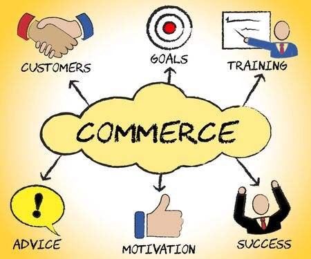 sell: Commerce Symbols Meaning Ecommerce Corporate And Sell