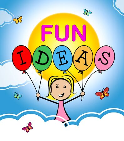 considerations: Fun Ideas Representing Contemplations Happiness And Joy